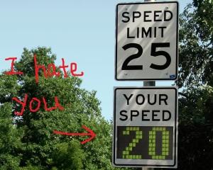 Radar_speed_sign_-_close-up_-_under_limit